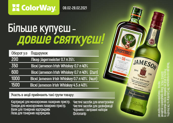 Більше купуєш – довше святкуєш. Накопичувальна акція від тм ColorWay.